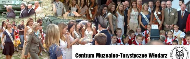 """Centrum Muzealno Turystyczne """"Włodarz"""" gościło na terenie  swojego obiektu kandydatki  Miss world 2006"""
