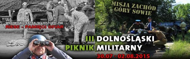 III Dolnośląski Piknik Militarny</br>30.07 &#8211; 02.08 2015 r.